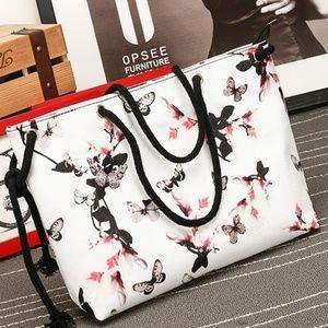 Handbags - Butterfly tote bag